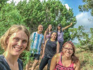 careset employees on hike