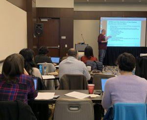 Fred teaches a data class at Health Datapalooza